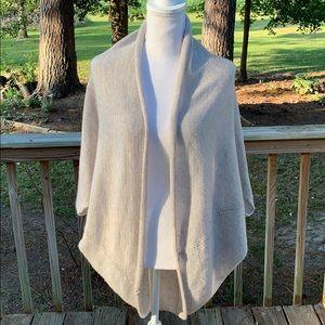 Zara Knit Cocoon Cardigan Oatmeal Heather Size M